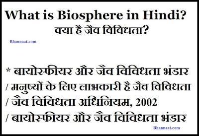 What is Biosphere in Hindi