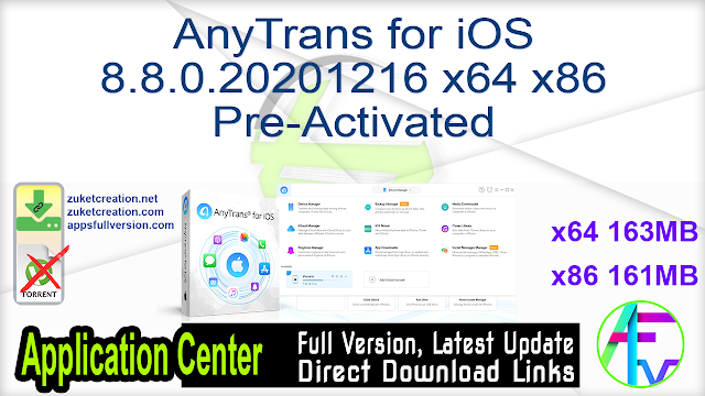AnyTrans for iOS 8.8.0.20201216 x64 Pre-Activated