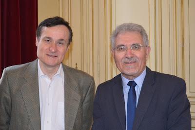Pour fêter anniversaire chute Berlin, Louviers écouté récit historique politique Cyril Buffet