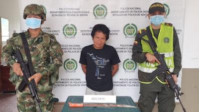 Hombre que le causó la muerte a su mujer con un machete fue capturado en Novita
