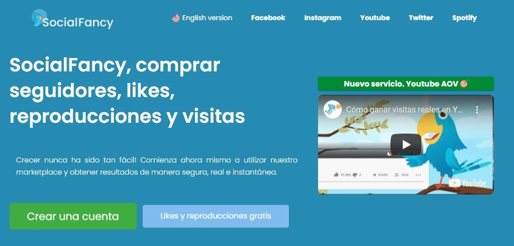 SocialFancy, marketplace para aumentar seguidores y visitas en las Redes Sociales