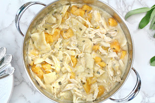 Chicken Butternut and Dumplings