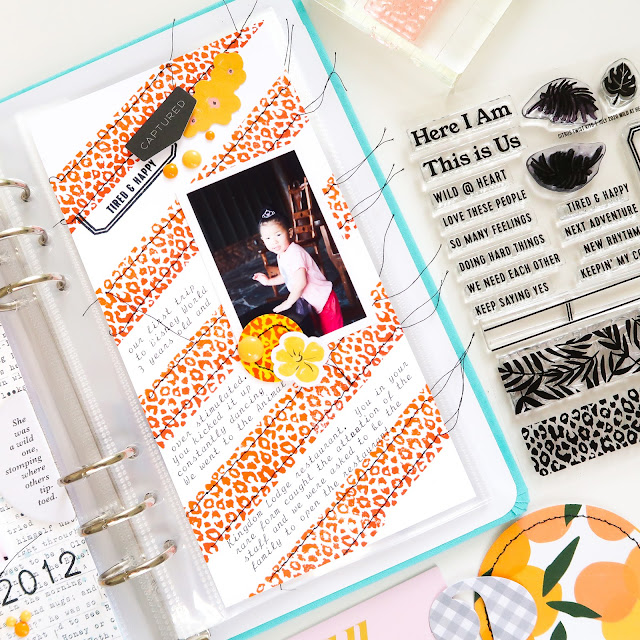 Patricia Roebuck, Citrus Twist Kits, Life Crafted Album, Traveler's Notebook