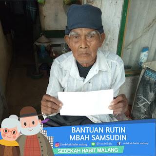 Mbah Syamsudin : Bantuan Rutin