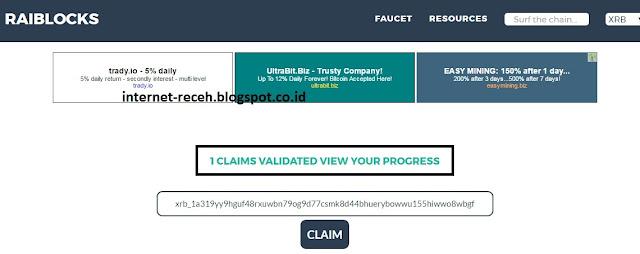Cara Melihat Jumlah Claim Dan Threshold di Raiblocks Community