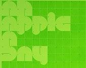 An apple a day letterpress calendar
