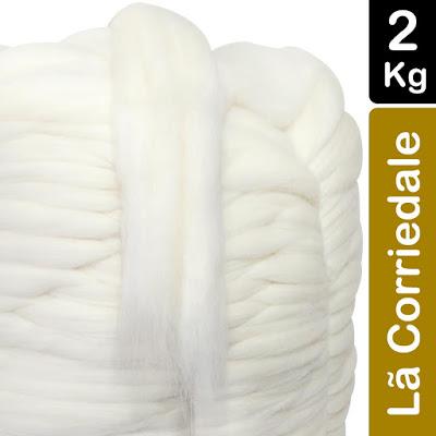 Maxi crochê lã merino branca