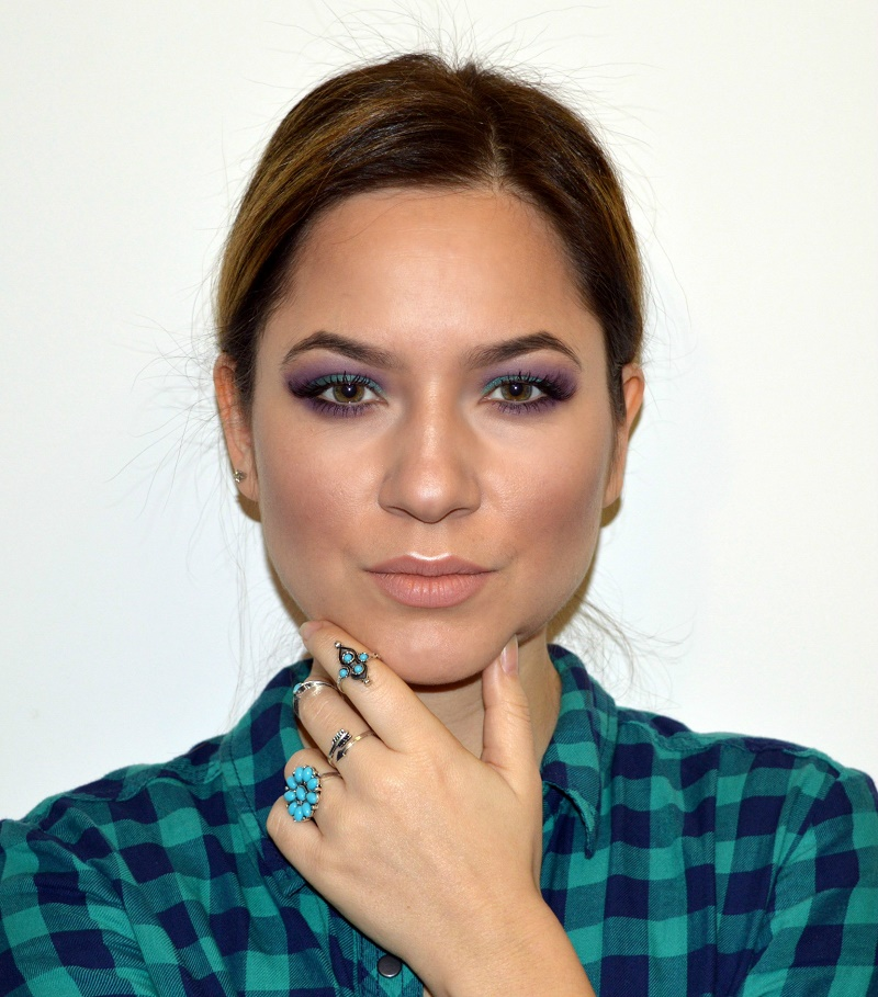 green purple eyeshadow makeup