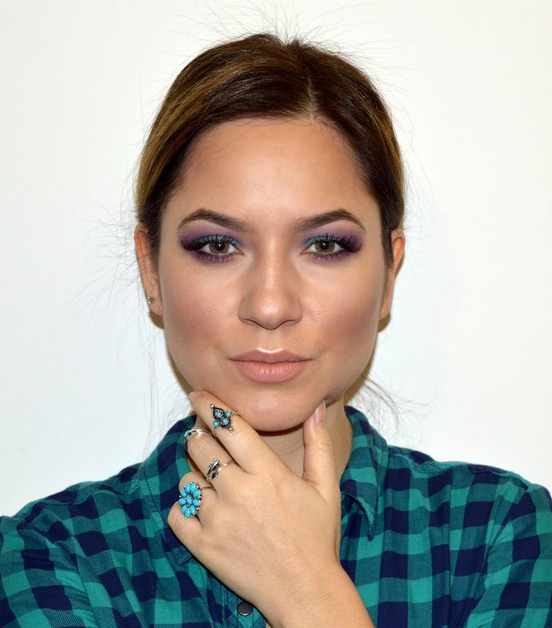 green purple eyeshadow makeup