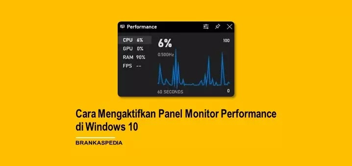 Cara Mengaktifkan Panel Monitor Performance Tersembunyi Windows 10