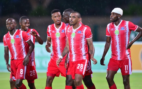 Maritzburg united players celebrating a goal