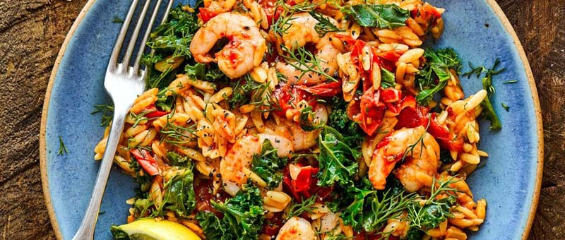 baked-orzo-with-harissa-prawns