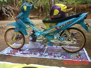 Foto Vega ZR Thaillook Style Biru