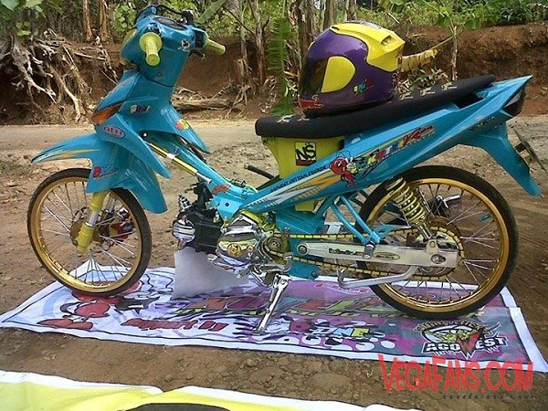 Modifikasi Vega ZR Biru Thai Look