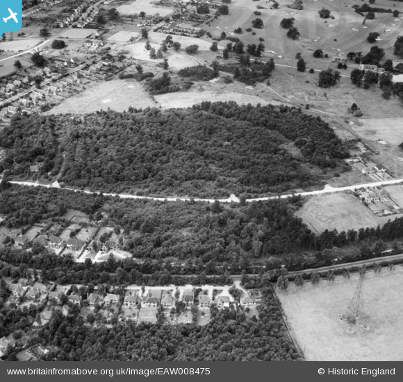 Aerial photograph of George's Wood, Brookmans Park, 1947