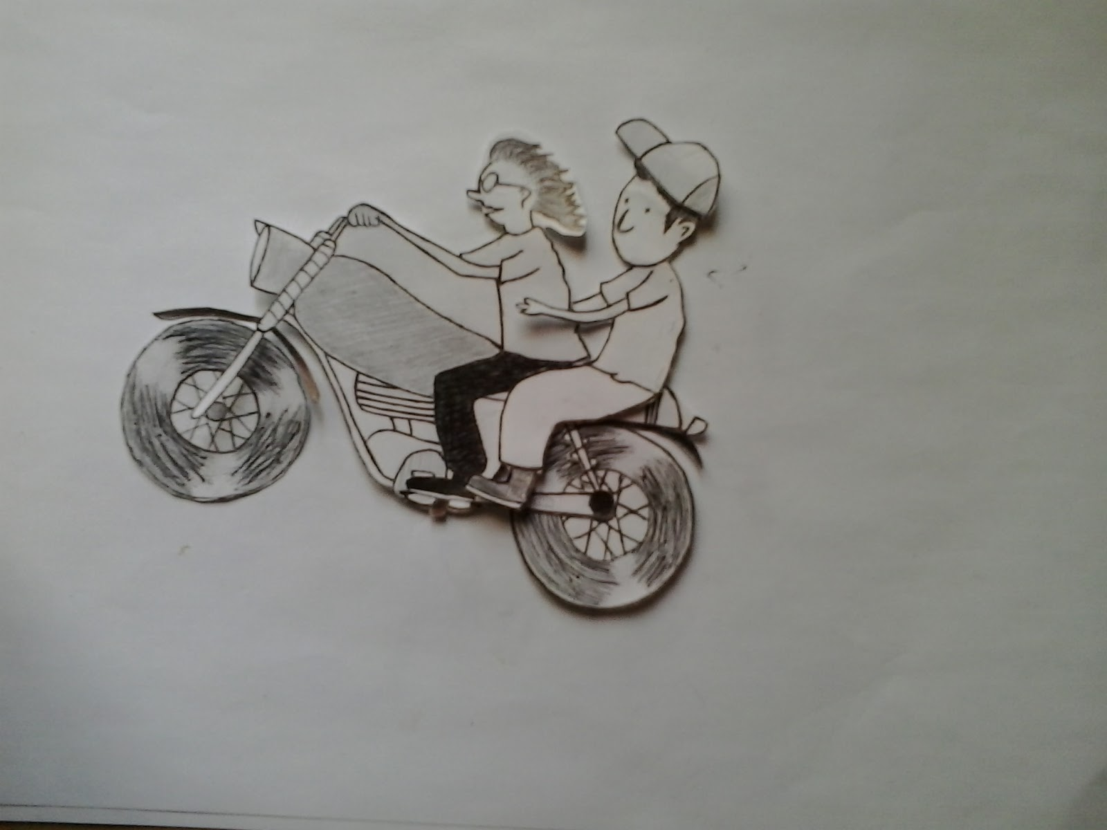 Cara Menggambar Motor Drag Di Kertas Langkah Demi Langkah Stylecustom