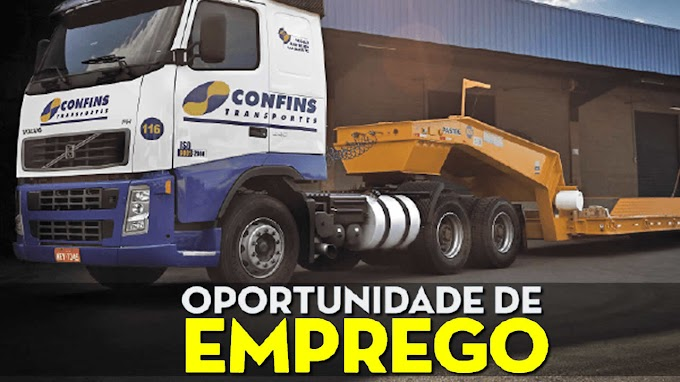 Transportadora Confins abre vagas para motorista truck