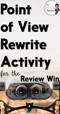 This quick activity for reviewing point of view requires zero preparation for the teacher and will have students giggling as they talk about themselves in the third person.