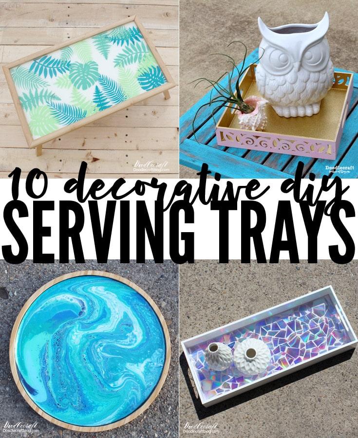 decorative serving tray decor upcycle