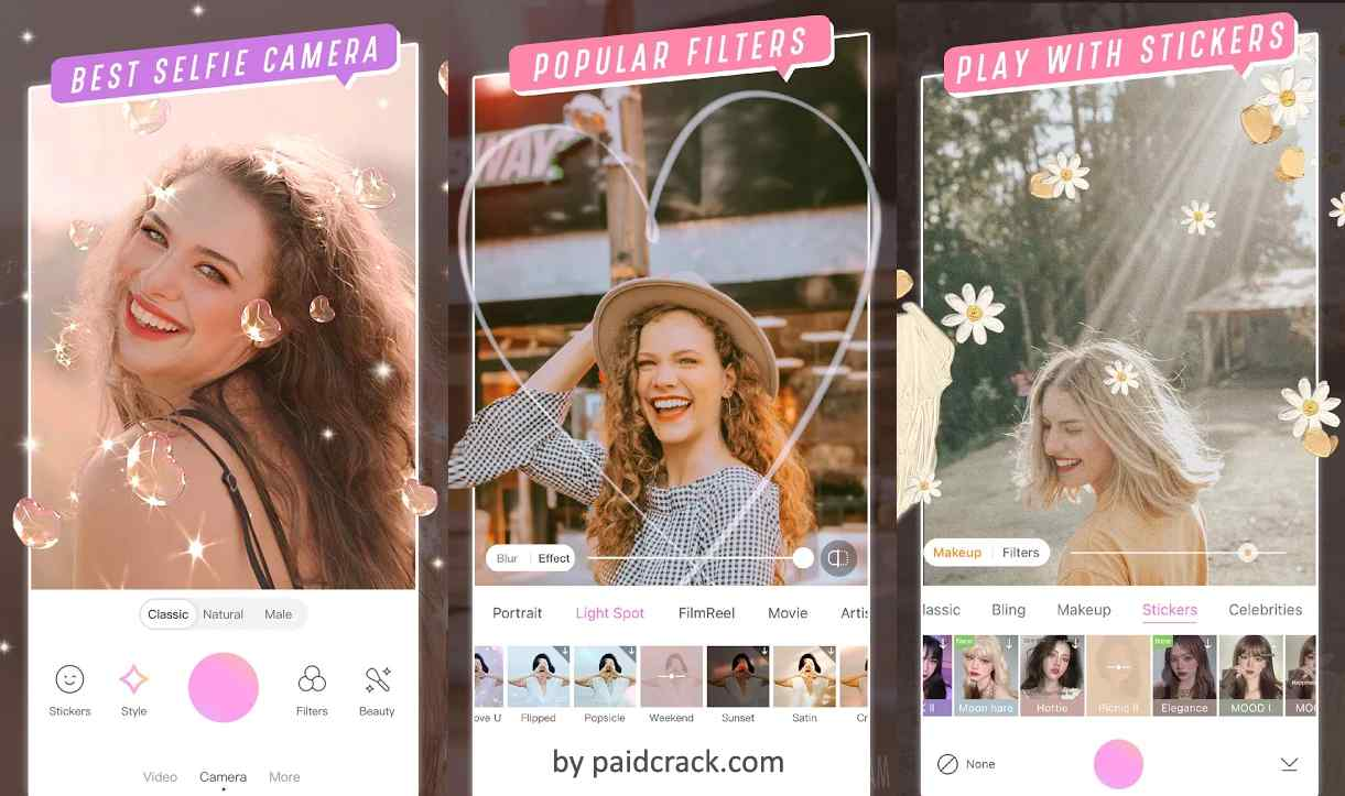 BeautyCam Mod Apk is one of the camera app for android devices  【Primary mode】 A gift for taking amazing photos without excessive beautification. We realize it is important to keep your inherent beauty that you cherish. 【Slender】 Change head to body ratio instantly! Three body adjusting plans and several pose templates are offered for you to snap mesmerizing full body photos. 【Amazing styles】 Reach trending makeup looks and filters with ease! Take amazing selfies in one tap! All types of beauty are accessible!