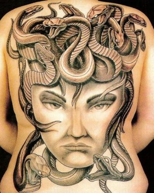 Snake Tattoo On Back