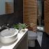 Banheiros sociais decorados como lavabos com a área do chuveiro camuflada!