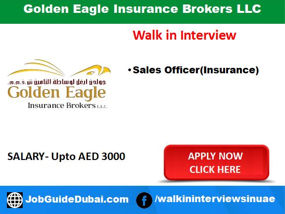 Golden Eagle Insurance Brokers LLC Career for Insurance broker and sales executive job in Dubai
