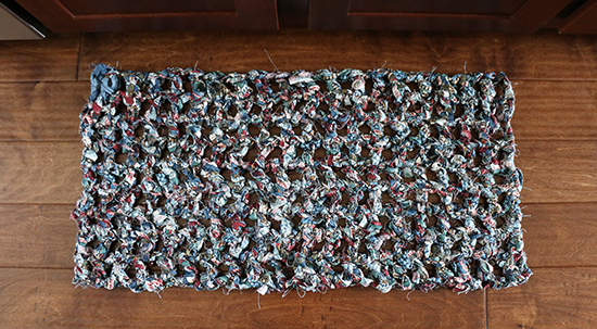 Crochet Rug made from Strips of Fabric