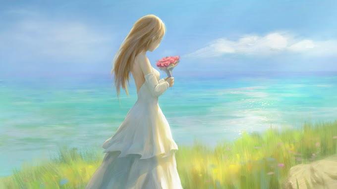 Pintura de uma Noiva para Plano de Fundo