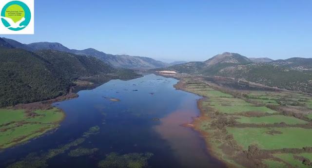 Πλάνα με drone από το Έλος Καλοδικίου