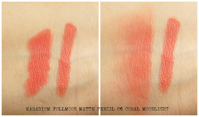coral moonlight swatches