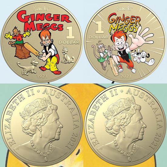 Australia 1 dollar 2021 - Centenary of Ginger Meggs