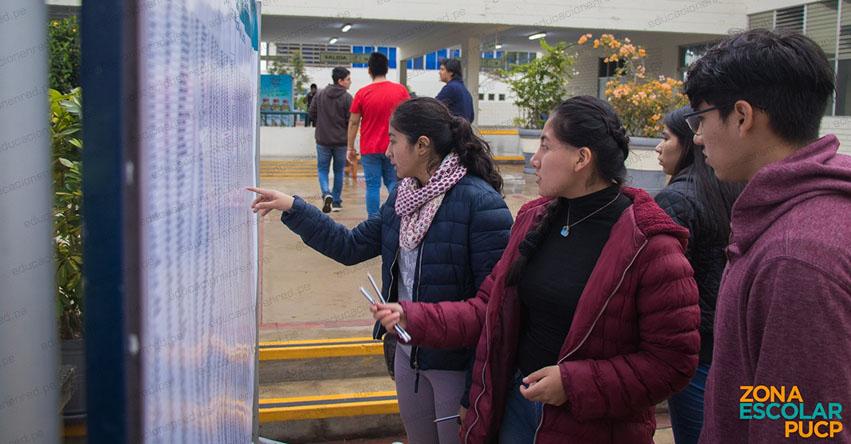 Resultados PUCP 2019 (Domingo 14 Julio) Evaluación del Talento - Zona Escolar - Examen de Admisión - Pontificia Universidad Católica del Perú - www.pucp.edu.pe
