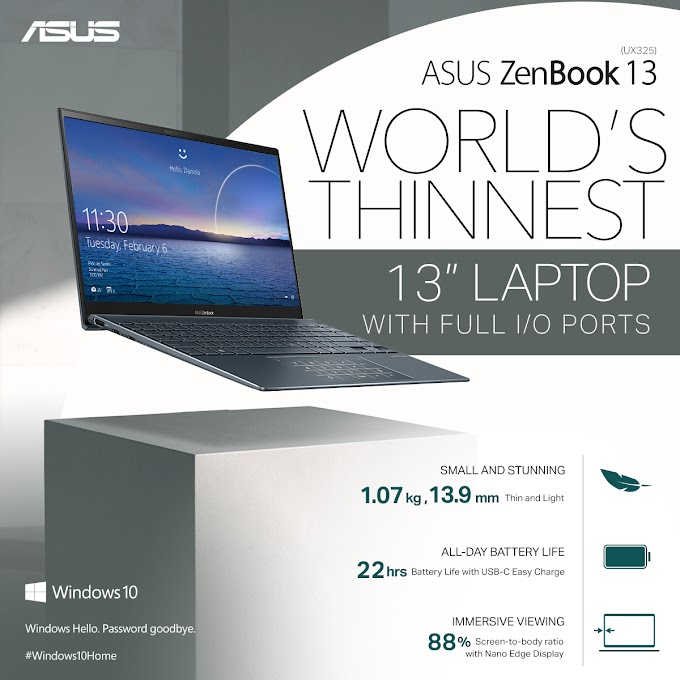 ASUS Philippines Launches ZenBook 13 (UX325) and ZenBook 14 (UX425), Sets New Standards For Ultra-Thin Laptops