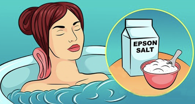 Epsom Salt Bath Pulls Toxins Out of Your Body, Reduces Inflammation, Improves Blood Flow and Stiff Joints