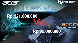 Perbandingan Dua Monster dari Taiwan ASUS ROG GX800VH vs ACER PREDATOR 21X