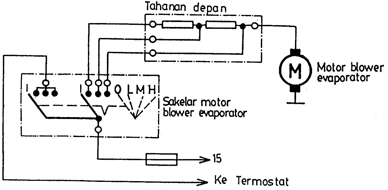 wiring diagram blower ac mobil