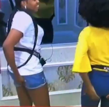 """#BBNaija: """"My Butt Is Soft, Yours Is Hard"""" -  Khafi And Cindy Press Each Others Butt"""