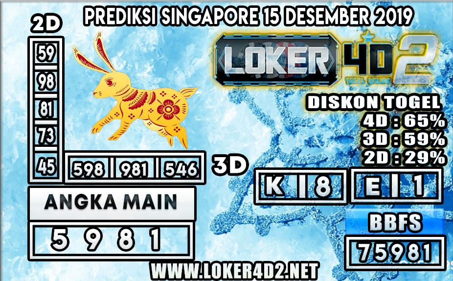 PREDIKSI TOGEL SINGAPORE LOKER4D 2 15 DESEMBER 2019