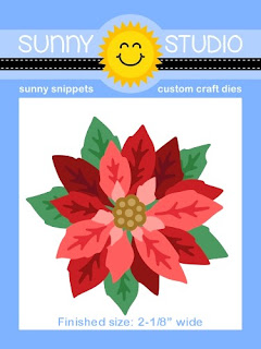 """Sunny Studio Stamps: 2-1/8"""" wide Layered Poinsettia Metal Cutting Die Set"""