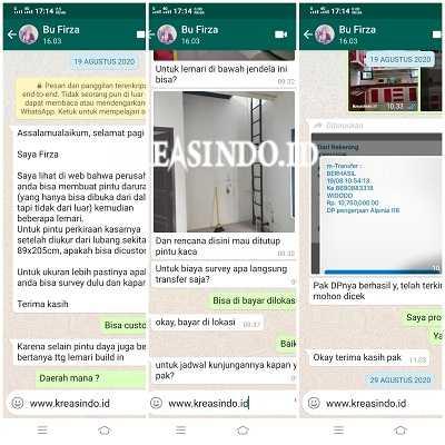 Pintu Emergency, Kichen Set Aluminium dan Partisi Kaca Cermin pemasangan di Rumah Bu Firza GDC Depok (5)