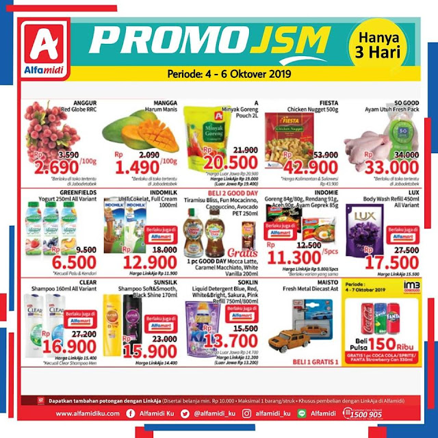 #Alfamidi - #Katalog Promo JSM Periode 04 - 06 Oktober 2019
