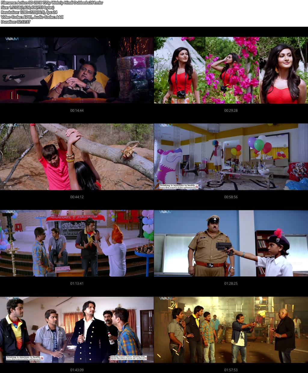 Action 3D 2018 720p Webrip Hindi Dubbed | 480p 400MB | 200MB HEVC x264 Screenshot