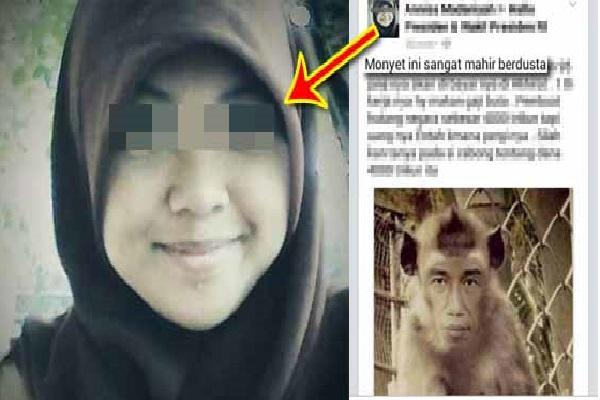 Heboh !! Cewek Yang Mengejek Jokowi ini Sedang Di Buru POLRI