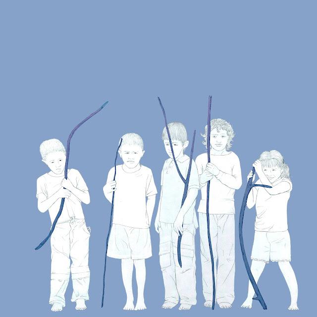 niños con palos