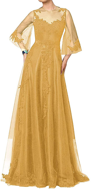 Good Quality  Gold Mother of The Groom Dresses