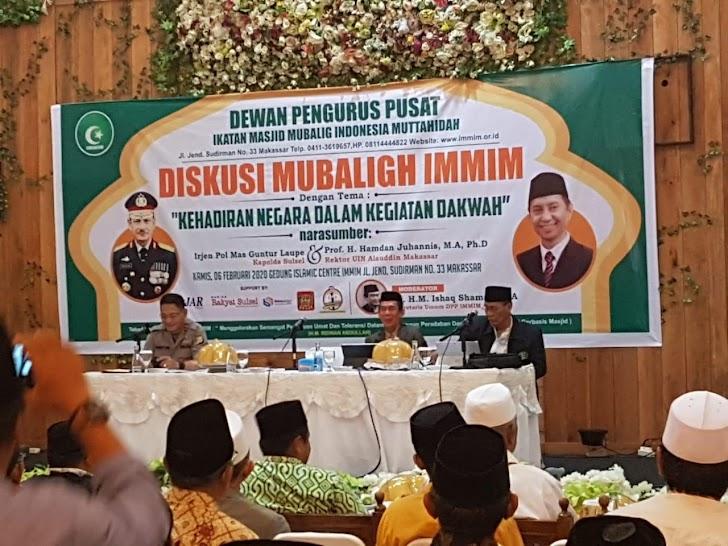 Kapolda Sulsel  menjadi Nara Sumber Dialog Muballig IMMIM