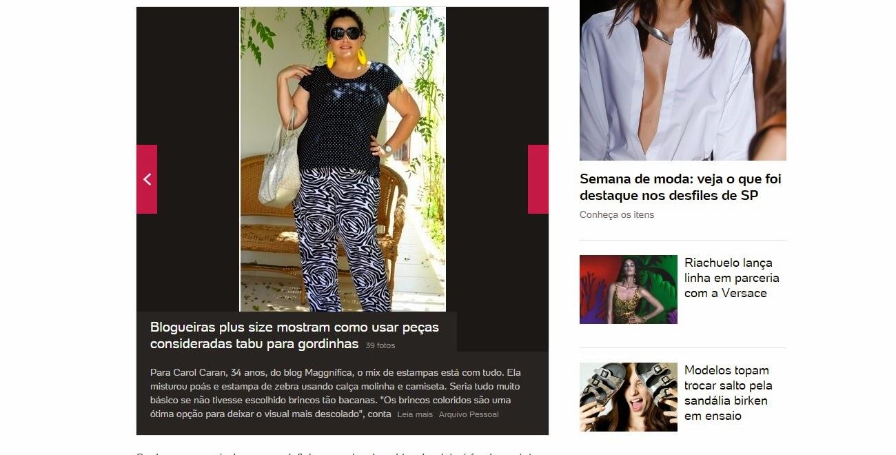 d859430f5 MaGGníficas ilustram matéria do portal Uol Mulher - Moda com dicas para  gordinhas usarem todos os tipos de roupas - 18/11/2014