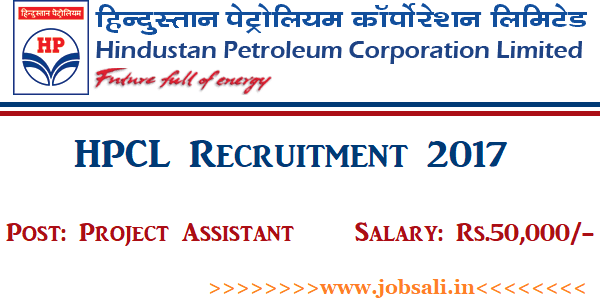 HPCL Vacancy, HPCL Project Assistant Vacancy, Govt jobs in Bangalore