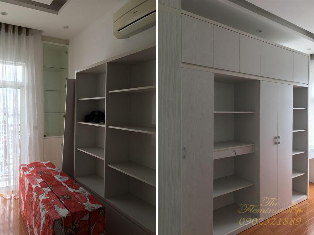 Căn hộ The Flemington cho thuê 117m2 nội thất đẹp tầng 9 block B - tủ quần áo phòng ngủ